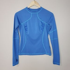 Lululemon Long Sleeve Blue Size 6 Athletic Top